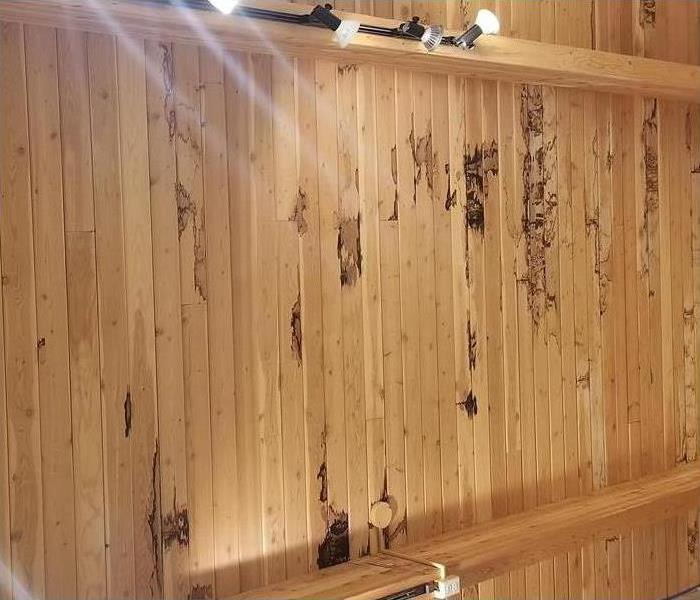 Water Damage in Retail store Before
